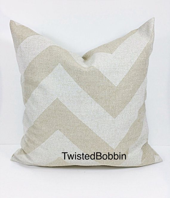 SALE PILLOW COVER.24x24 Pillow Cover.Beige by TwistedBobbinDesigns