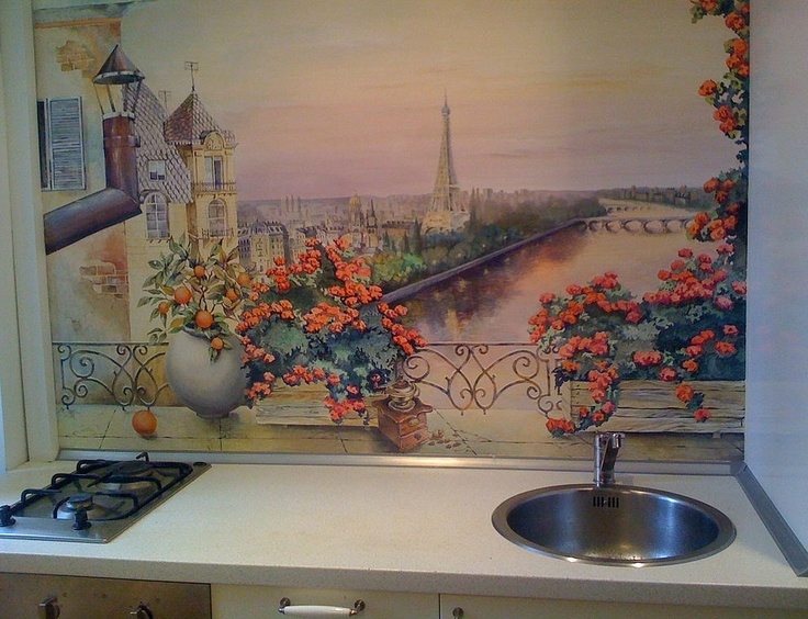 Kitchen/ Diningroom. Custom Hand Painted Wall Murals by Eelna