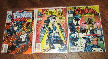 VENOM FUNERAL PYRE #1- #3 Comic Books EXCELLENT COMPLETE SET 1993