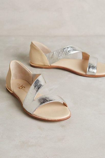Yosi Samra Casey Metallic Sandals #anthropologie