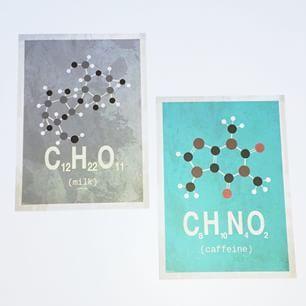 Molekyle-kunstkort ☺️☕️