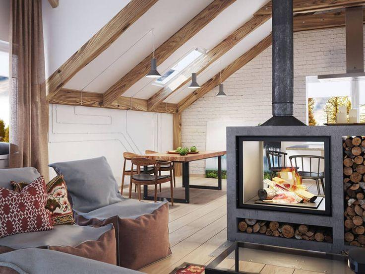Die besten 25+ Aus der mitte kamin Ideen auf Pinterest Kamin tv - luxus wohnzimmer modern mit kamin
