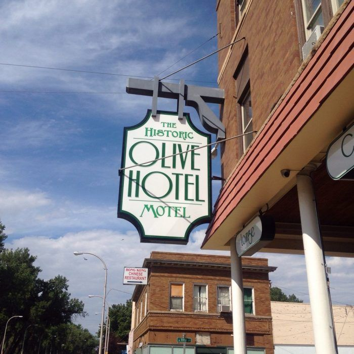 6. The historic Olive Hotel in Miles City.