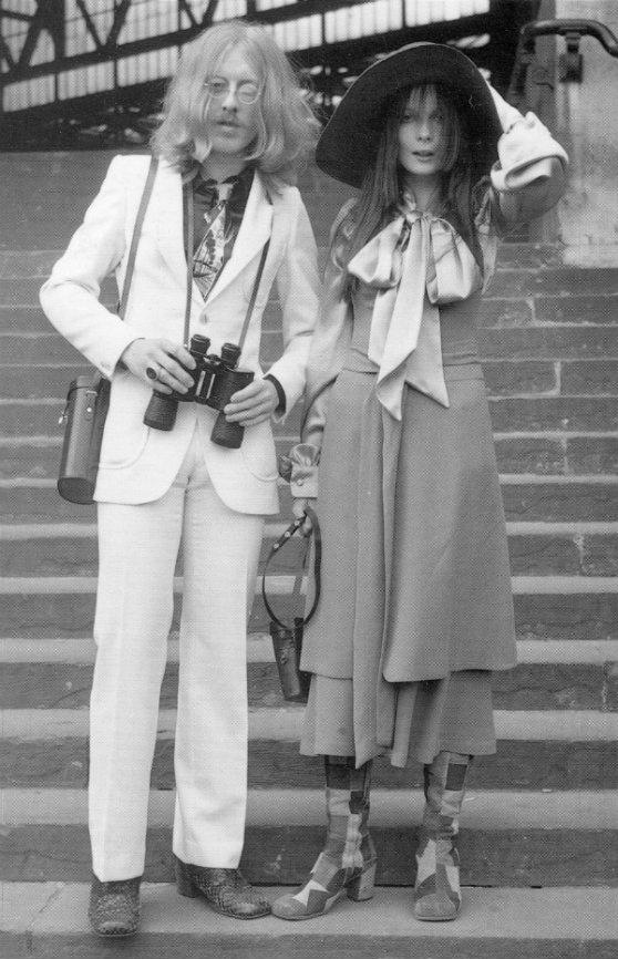 Designer hippies at The Royal Ascot horse race meeting, 1970