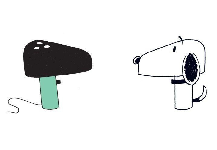 Il profilo black & white della lampada Snoopy di Flos ricorda il celebre bracchetto dei fumetti disegnato da Schulz © 2015 Steven Guarnaccia, Paola Antonelli. Tutti i diritti riservati alla Maurizio Corraini s.r.l.