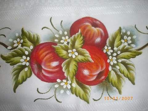 162 best pintura em tecido frutas e legumes images on for Pintura para decoupage