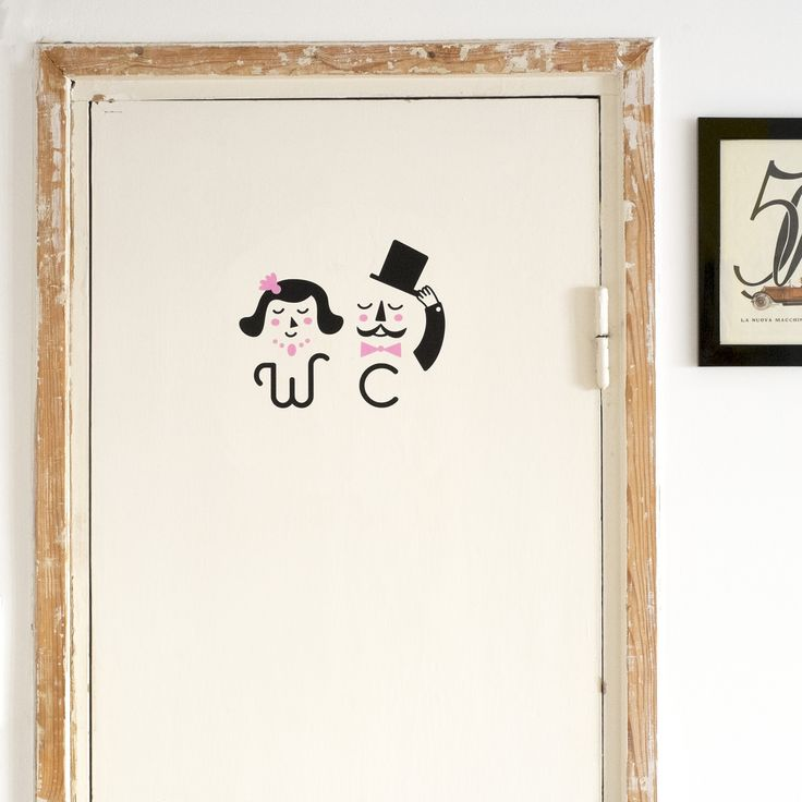 WC Bathroom Sign - Wall Decal by MADE OF SUNDAYS