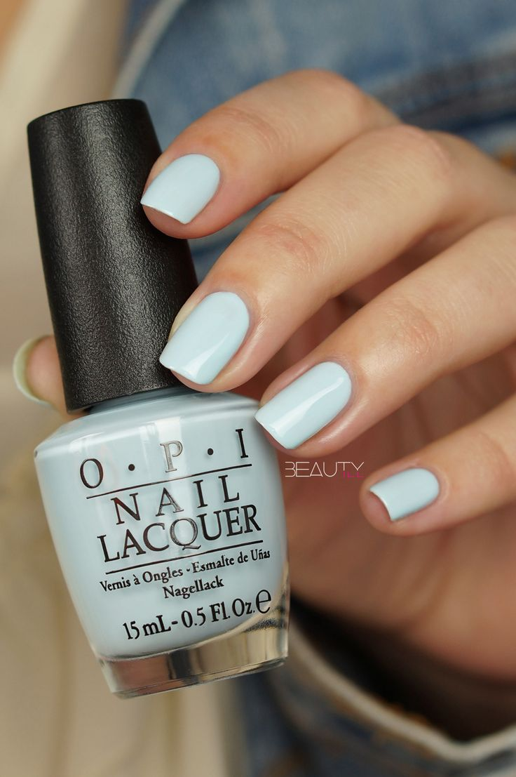 OPI It's A Boy! 2016 Soft Shades Collection #pastel #blue #creme
