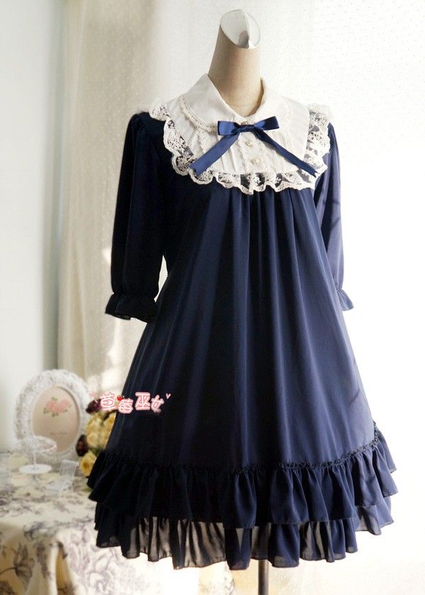 Cute Doll Chiffon Lolita Dress 15 Colors $49.99-Cotton Lolita Dresses - My Lolita Dress