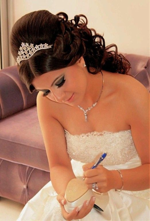 Wedding Hairstyles With Tiara Ideas : Curly Wedding Hairstyles With Tiara And Ve…