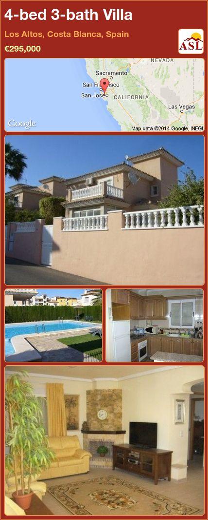 4-bed 3-bath Villa in Los Altos, Costa Blanca, Spain ►€295,000 #PropertyForSaleInSpain
