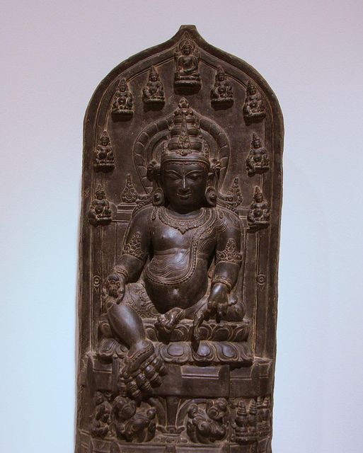 Jambhala, Indian, Bihar, 8th-13th Century, Dallas Museum of Art... Jambhala is the God of Wealth and appropriately a member of the Jewel Family. In Hindu mythology, Jambhala known as Kubera. Jambhala is also believed to be an emanation of Avalokitesvara or Chenrezig, the Bodhisattva of Compassion. There are five different wealth Jambhala, each has their own practice and mantra to help eliminate poverty and create financial stability.