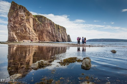 Here is Gaspe Peninsula's Perce Rock from another perspective, take a look!