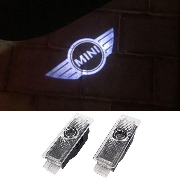 Para Mini Cooper One S R55 R56 R58 R59 R60 R61 F55 F56 Compatriota Clubman Lâmpada Do Projetor a laser Porta do Carro Luzes LED acessórios