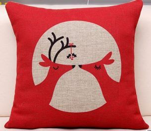 Kissing Cushion Cover