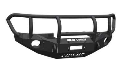 TOYOTA Front Winch Bumper Round Light Ports FJ CRUISER 06-16 BLACK Titan II Guard Road Armor Stealth Series - Overland Gear HQ