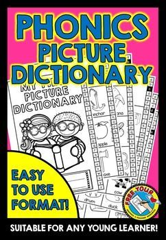 #PHONICS #PICTURE #DICTIONARY - MY FIRST PICTURE DICTIONARY!  This phonics picture dictionary is a useful #resource for #young #learners. It includes #words accompanied by #pictures starting with each of the #letter #sounds, except for letter #x where focus is on the #final sound.