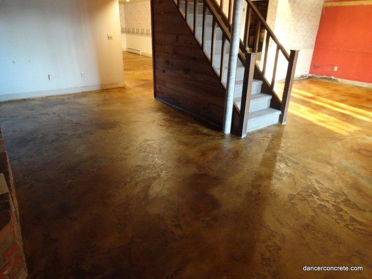 17 best images about refinishing the basement on pinterest for Concrete floor refinishing