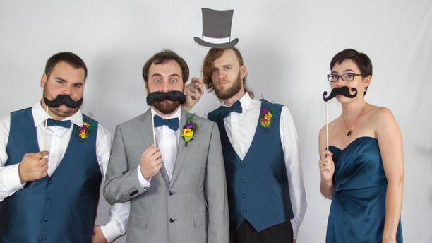 DIY Mustache & Top Hat Photo Booth Props