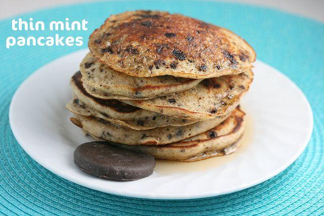 Girl Scout Thin Mint Pancakes