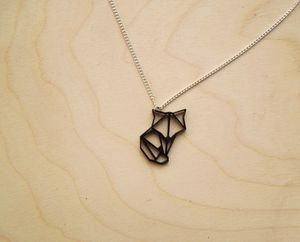 Origami Mini Fox Pendant Necklace - necklaces & pendants