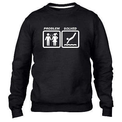 Diving problem solved #sweatshirt jumper men funny #women #present board pool swi, View more on the LINK: http://www.zeppy.io/product/gb/2/391387999785/