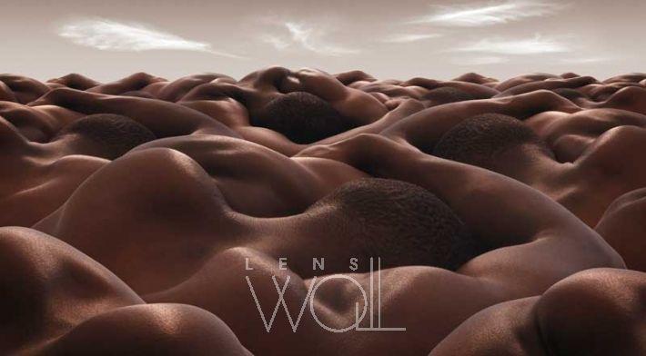 DESERT OF SLEEPING MEN By Carl Warner