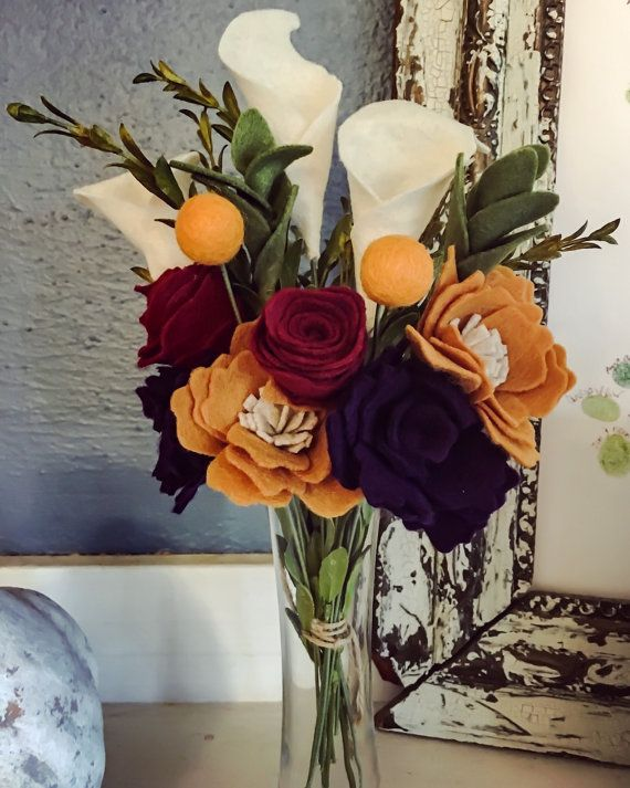 Handmade Felt Floral Bouquet by bgrace626 on Etsy