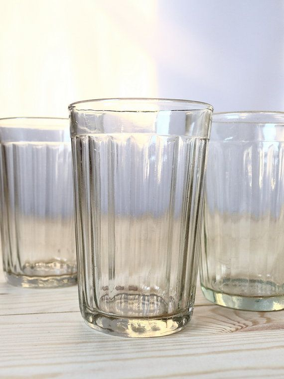 Vintage faceted glass Russian table-glass Soviet glasses Granyonyi stakan Industrial design Retro kitchen by Time-tested Finds