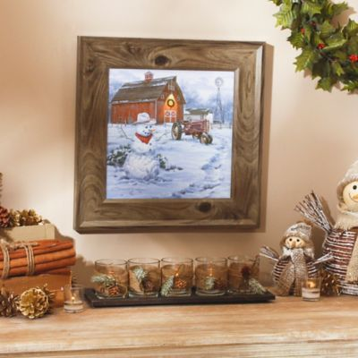 Christmas on the Farm Framed Art Print | Kirklands