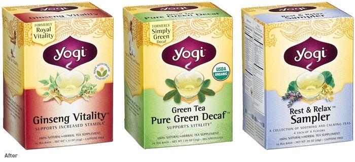 Yogi tea packing (after)