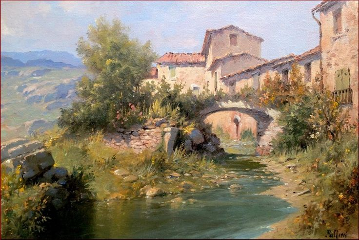 Italian Master Painter Claudio Pallini Quot Ancient Village