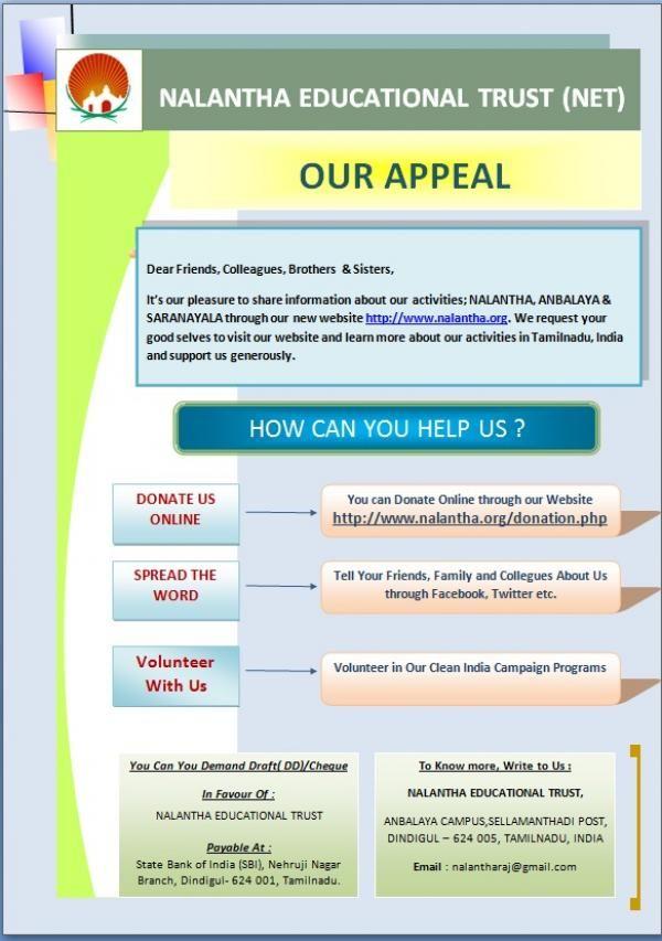 Nalantha Fundraising charity India - Brasilia Ad | Free Ads