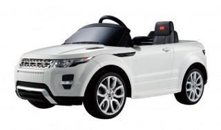 Rastar Land Rover Evoque White - 81400-W  — 14013р. ------------  Детский радиоуправляемый электромобиль Rastar Land Rover Evoque 12V - 81400 выполнен по лицензии настоящего автомобиля Land Rover Evoque. Такой игрушкой малыш обязательно будет гордиться. Машинка развивает скорость до 4 км/ч, имеет 2 скорости движения вперед, и работает от аккумулятора. Электромобиль может ездить вперед/назад, руль поворачивается вправо/влево. Управление машинкой также может происходить с помощью пульта…
