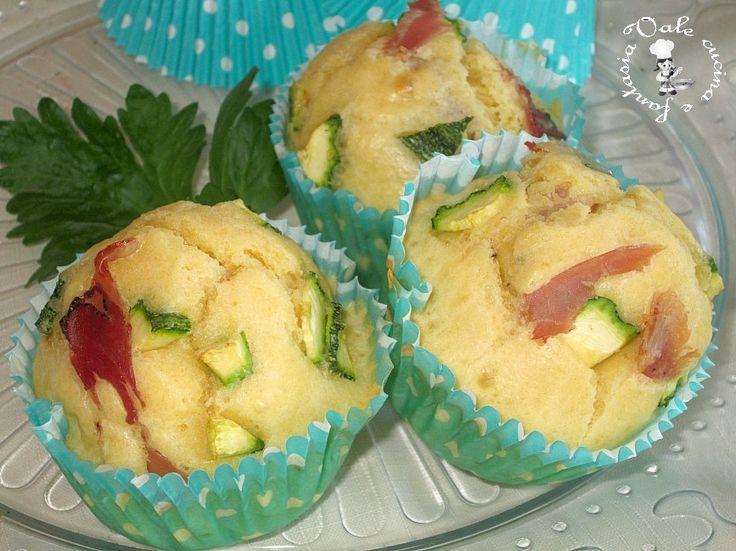 Muffin con zucchine e speck,ricetta veloce