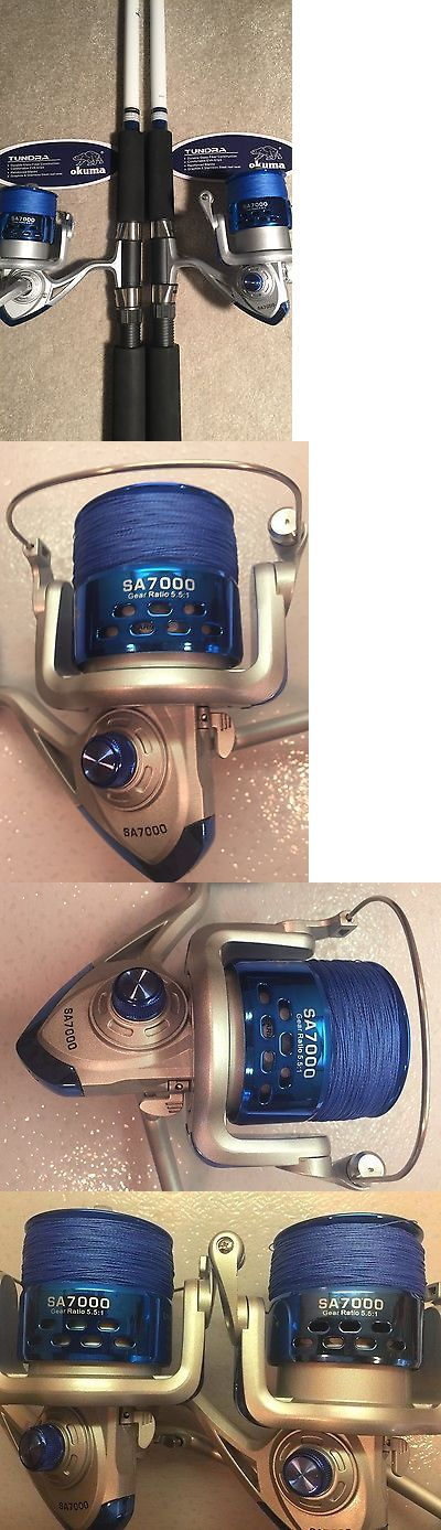 Saltwater Combos 179959: Two Okuma Tundra 8' Surf Spinning Rod And Sa7000 Spinning Reel Combo -> BUY IT NOW ONLY: $150 on eBay!