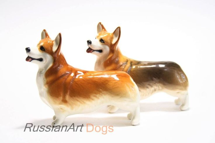 Welsh corgi pembroke dog porcelain figurine handmade statuette by RussianArtDogs on Etsy