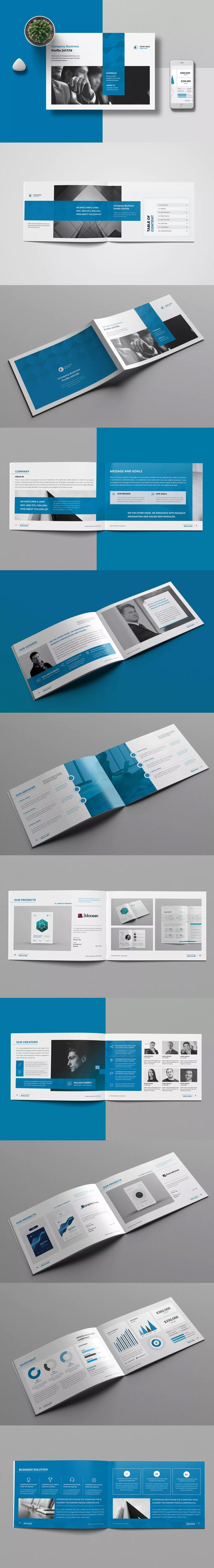 Company Profile 20 Pages Template InDesign INDD - A5