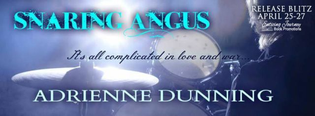 New Release By Adrienne Dunning! Sharing Angus Is Now Live!  Title: Snaring Angus  Series: A Captains Folly Novel  Author: Adrienne Dunning  Genre: Womens Fiction  Release Date: April 25 2017  Angus Donaghue and Kerry Hunter have spent their entire lives in the coastal Scottish village of North Berwickbattling wits and hurling insults. It was just the way of things.  Yet Angus begins to question himself when his mates in The Captains Folly suggest a different type of connection to his…