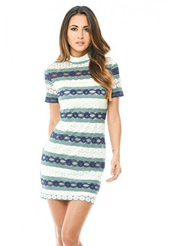 New AxParis AX Paris Women's Crochet Mini Dress With Striped Detail online. Perfect on the FAIRY COUPLE Dresses from top store. Sku owxc76417bxfp45522