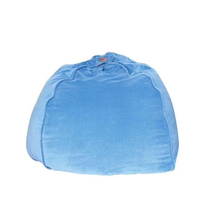 Kip & Co Sky Blue Velvet Beanbag