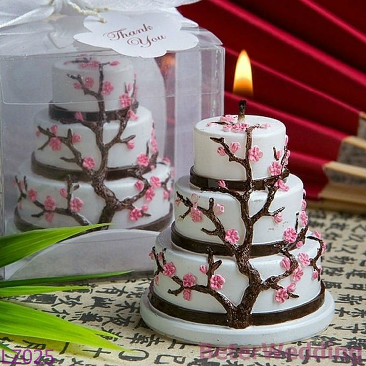 Aliexpress.com : Buy Cherry Blossom Cake Candle Wedding Favor, Wedding Gifts, Wedding Souvenirs LZ025 from Reliable souvenir box suppliers on Shanghai Beter Gifts Co., Ltd. $99,999.00