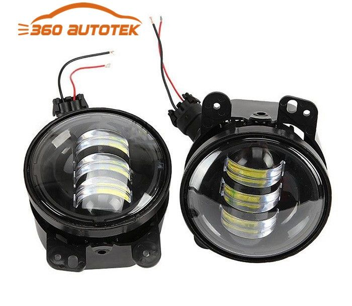 55.61$  Watch here - http://aip5o.worlditems.win/all/product.php?id=32705427284 - 1 Pair 4'' 30W Front Bumper Led Fog Light For Jeep Wrangler JK 07-15 For Dodge Magnum 05-08 For Chrysler 300 PT Cruiser 05-10
