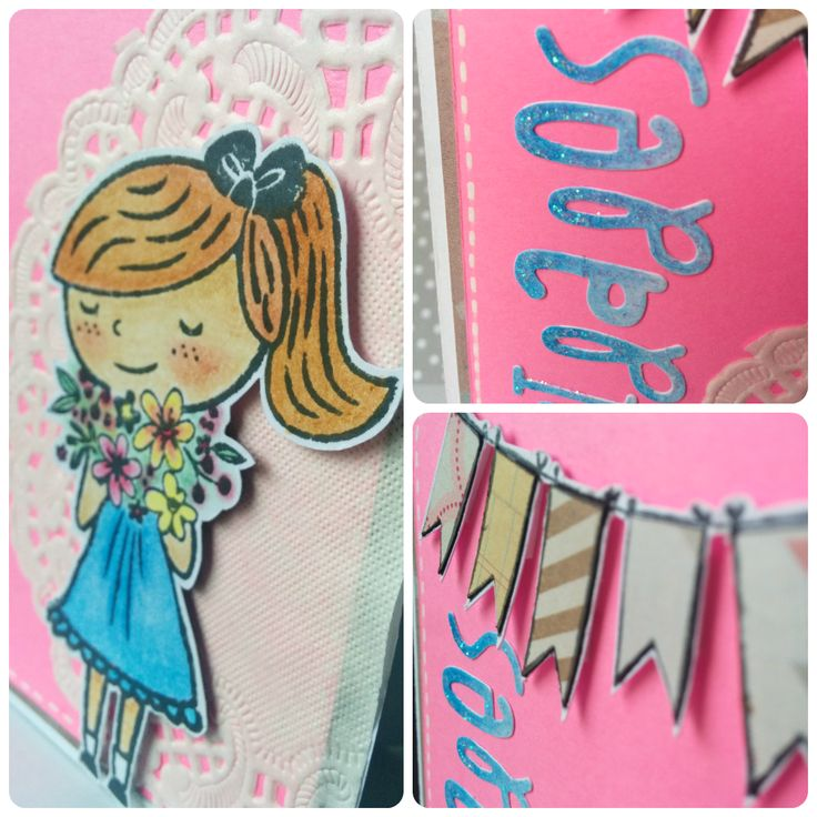 Miss Papeles: Tarjeta sello+ troqueles+ color fluor para YOY Scrap #card #cardmaking #stamp #tarjeta #acuarelables #blonda