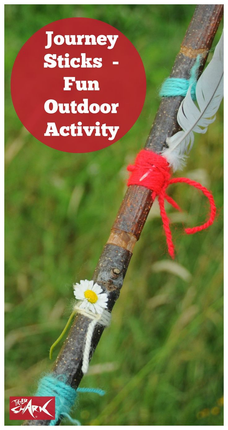 Zomervakantie - Natuur - Wandelstokken maken -Journey Sticks - fun outdoor children's activity!