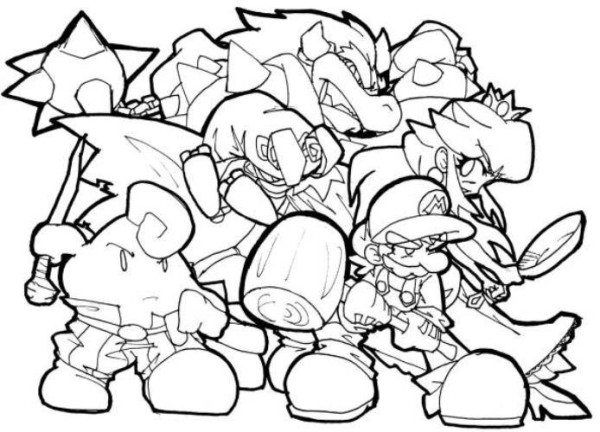 Coloring Pages New Super Mario Bros Wii Super Mario Brothers Coloring Pages Super Mario Bros
