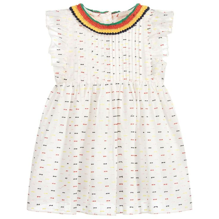 Stella McCartney Kids - Girls Ivory 'Apricot' Dress  