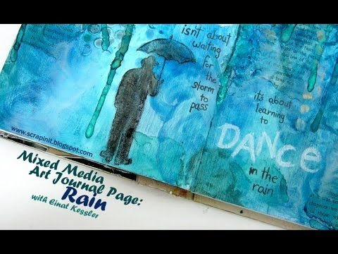 Create a technique packed art journal page with Gelatos, Gesso, stencils, sprays and more