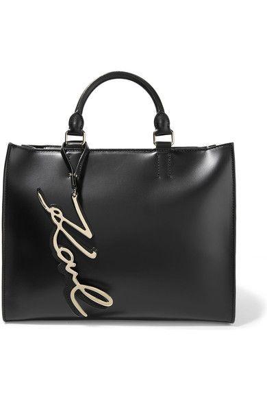 Karl Lagerfeld - K/metal Leather Tote - Black