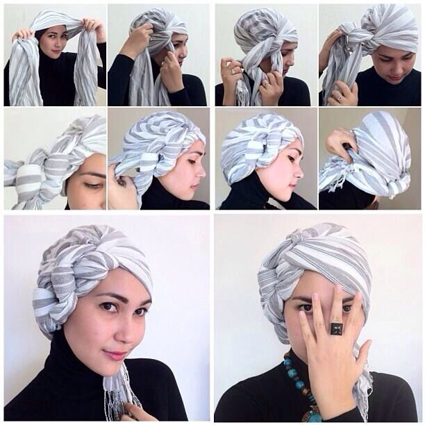 How to tie hijab